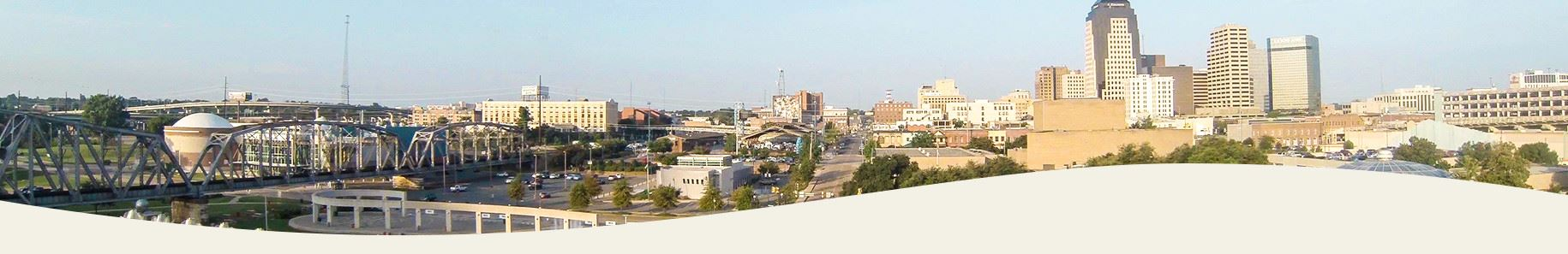 A panoramic view of downtown Shreveport
