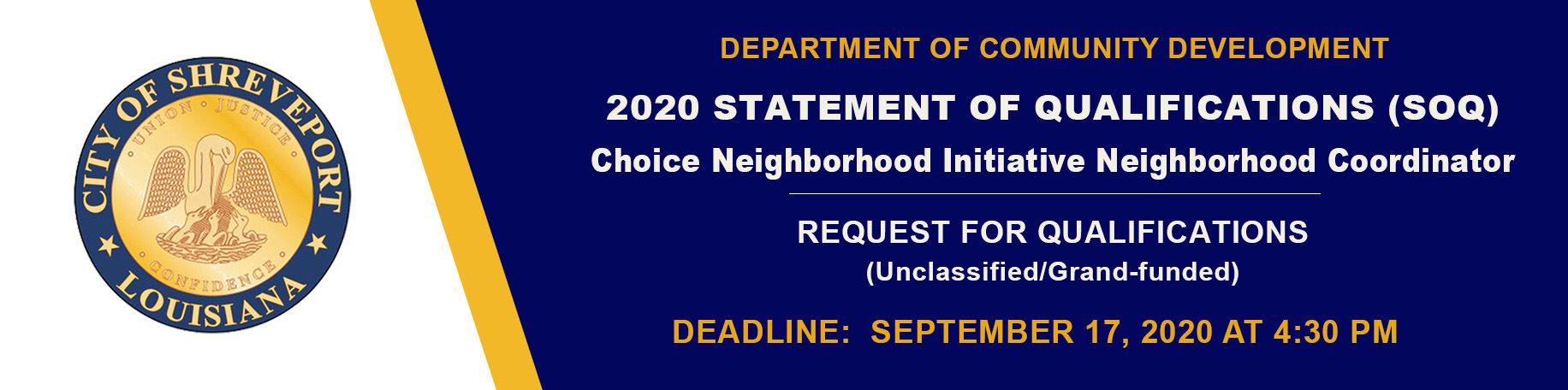 Statement of Qualifications for Choice Neighborhoods
