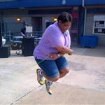 Felicia Bell jumping rope